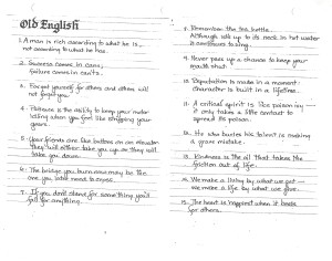 Old English Quotes